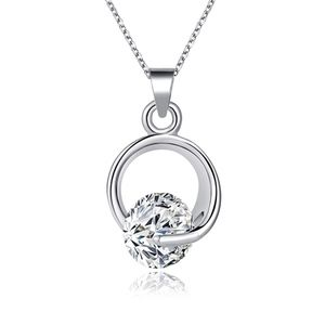 Jewelry - Austrian Crystal Silver Circle Of Trust Necklace